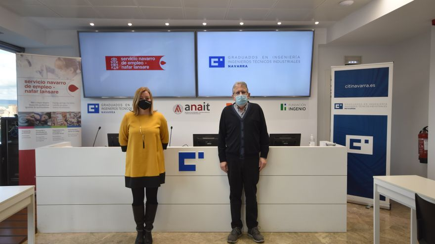 Mirian Martón, gerente del SNE, y  Luis Maestu Martínez, decano de CITI Navarra