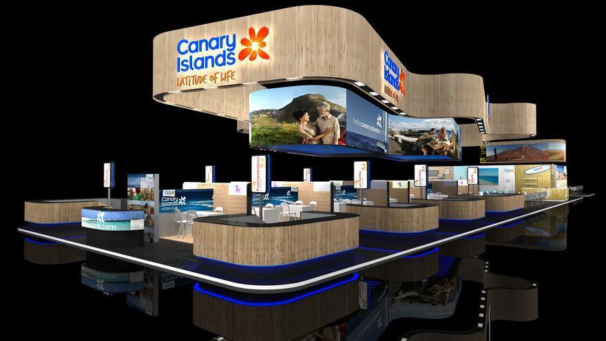 Pabellón que Canarias ubicará en la World Travel Market de Londres.