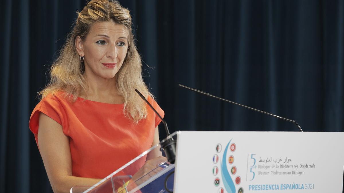 La vicepresidenta segunda y ministra de Trabajo y Economía Social  Yolanda Díaz, en una imagen de archivo.
