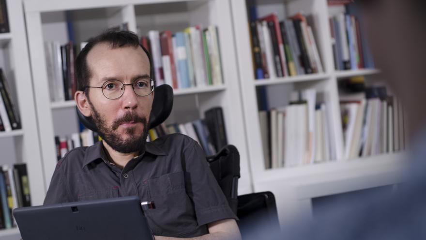 Pablo Echenique entrevistado en la redacción de eldiario.es