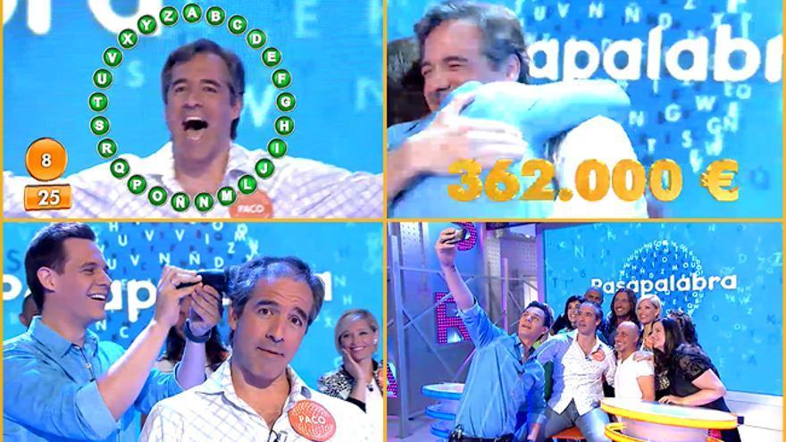 Así ganó Paco los 362.000 euros en 'Pasapalabra'