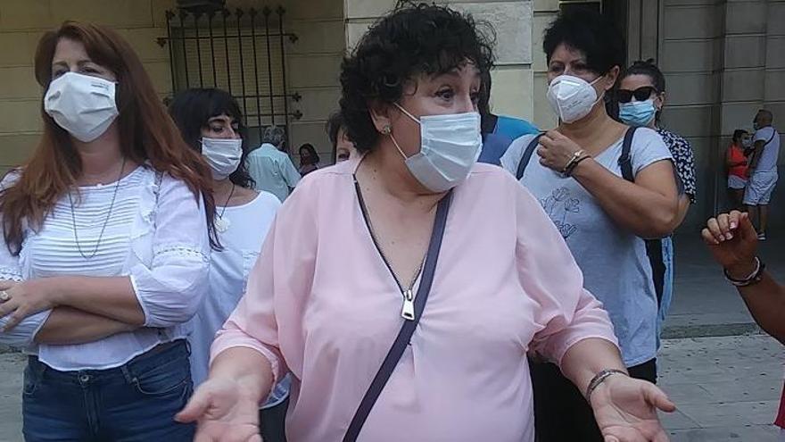 María Salmerón, este lunes en los juzgados de Sevilla