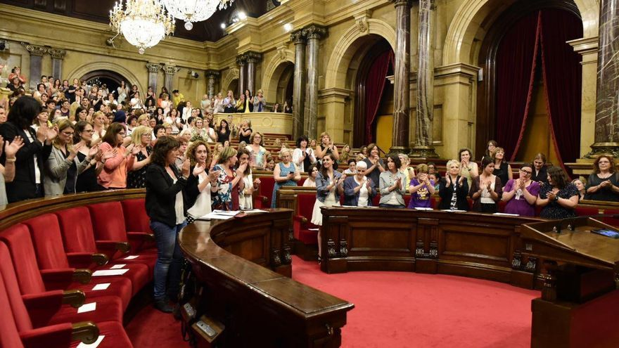 Imagen del hemiciclo del Parlament durante este lunes.