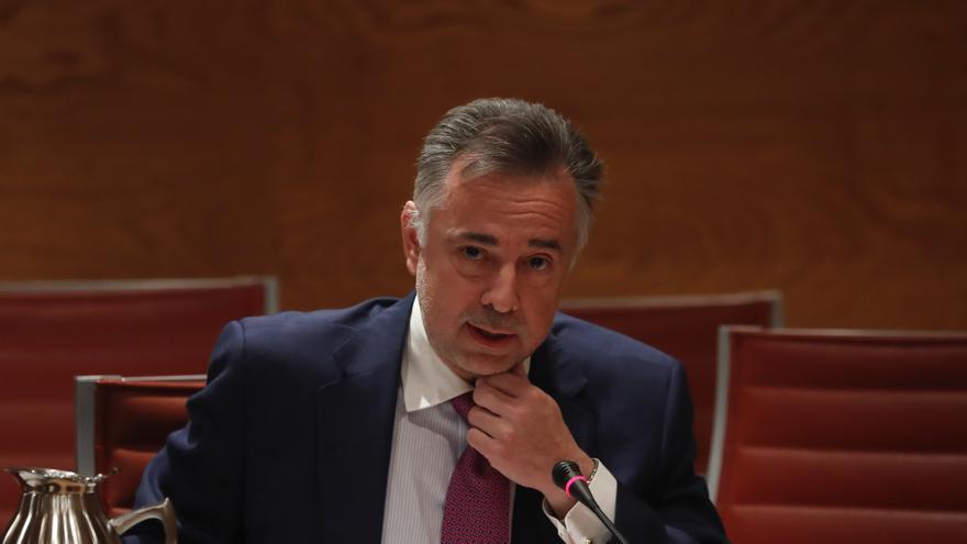 Jenaro Castro durante su comparecencia en el Senado para hablar de su posible nombramiento como consejero en RTVE