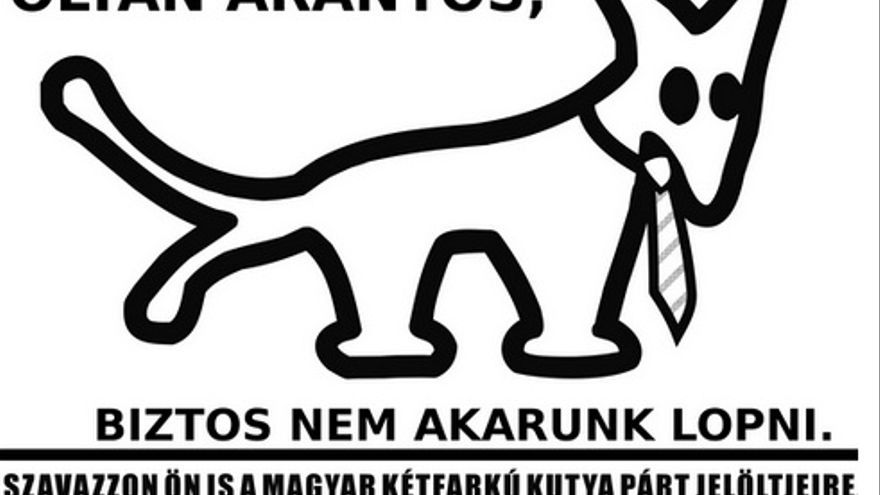 El logo del partido del Perro de Dos Colas.