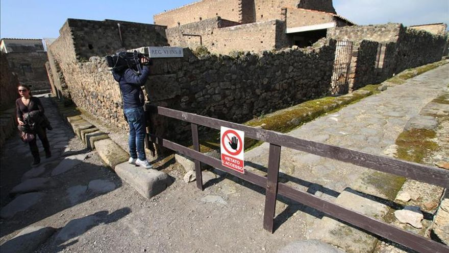 El yacimiento de Pompeya vuelve a sufrir el derrumbe de uno de sus muros