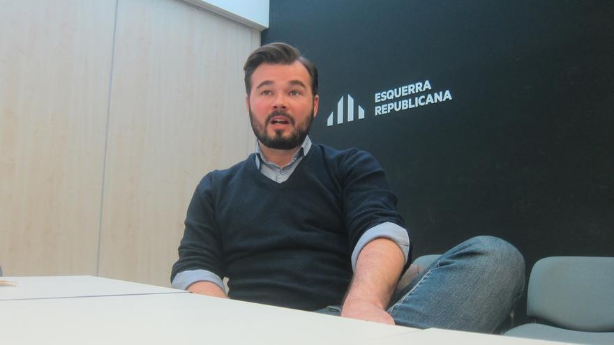 Rufián (ERC) rechaza que el 20D sirva para negociar la independencia en las Cortes