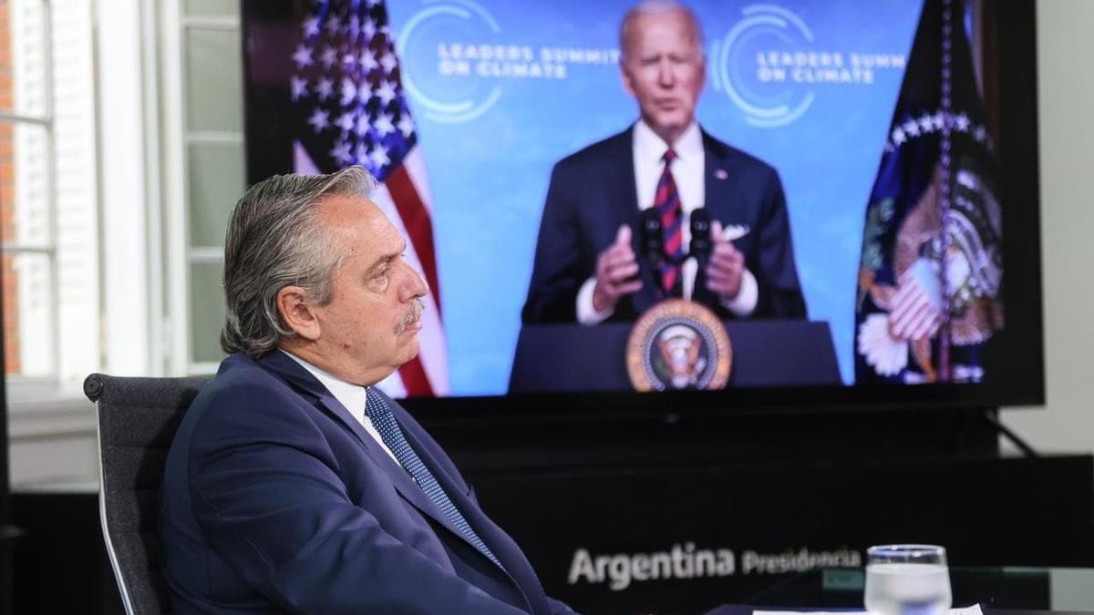 Alberto Fernández participó en la Cumbre por el Clima en abril pasado.