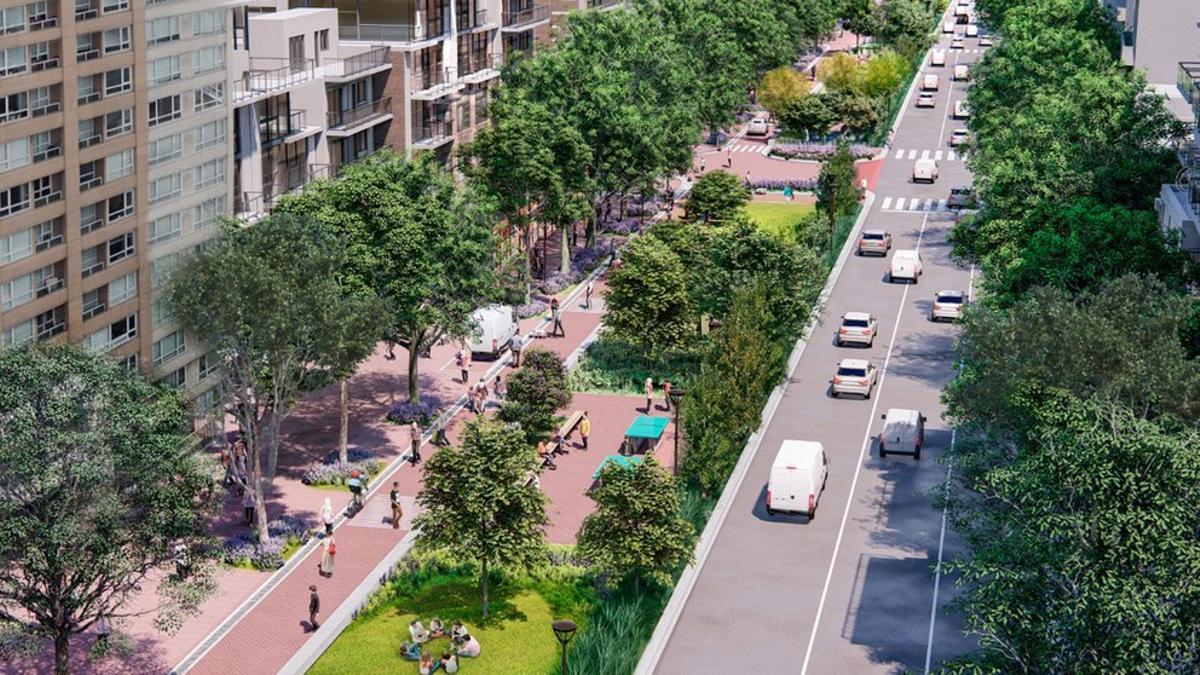 El proyecto del corredor Caballito se extenderá por Honorio Pueyrredón, entre las plazas 24 de septiembre y Giordano Bruno, lo que implicará también cambios en el tránsito de la zona ya que la avenida pasará a tener una sola mano de circulación.