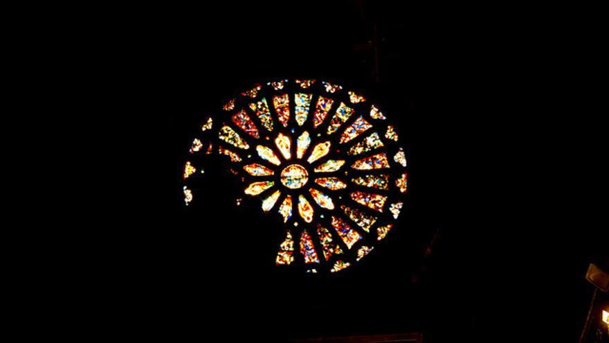 Rosetón de la Catedral de León.