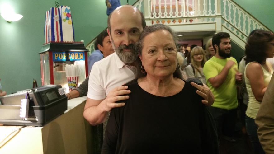 Javier Cámara y Elsa López este viernes en el Cine Teatro Chico. Foto: LUZ RODRÍGUEZ.