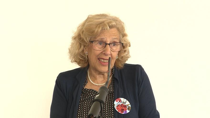 """Manuela Carmena dice que """"la sociedad ha dado un puñetazo en la mesa"""" y quiere """"participar"""" en la toma de decisiones"""