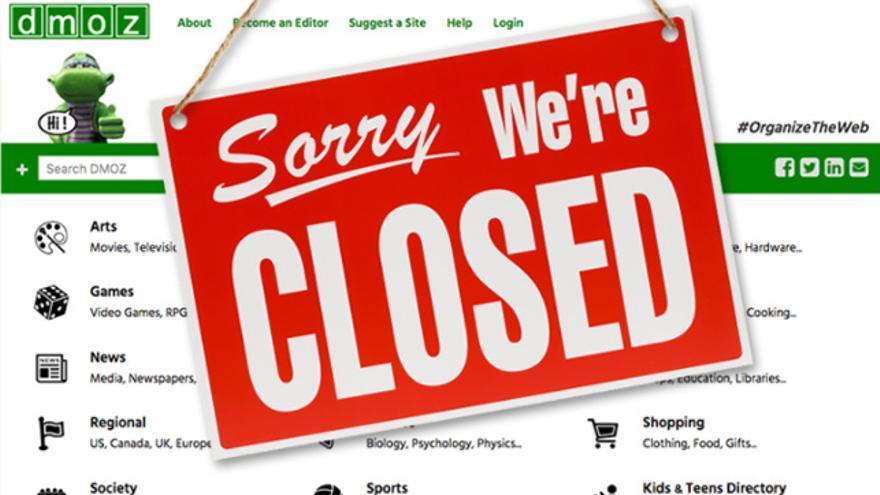 El directorio DMOZ anunció en marzo que echaba el cierre