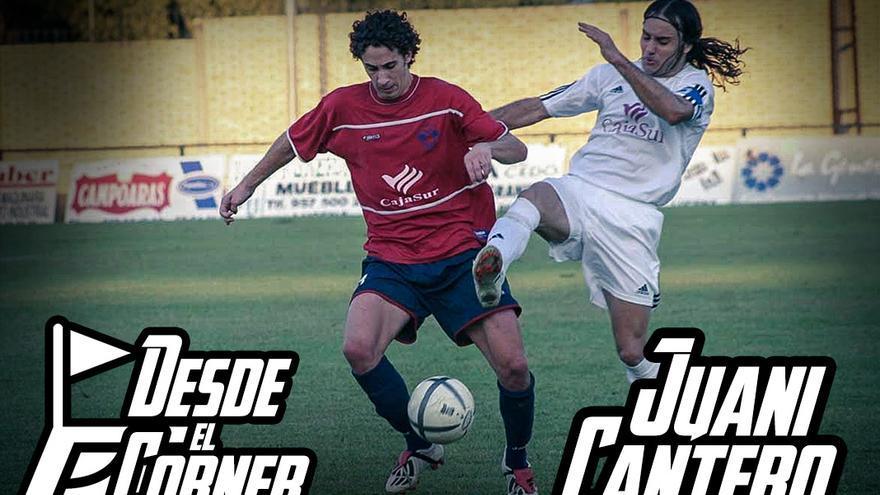 Juani Cantero, en un derbi entre Villanueva y Lucentino en 2004 | LARREA
