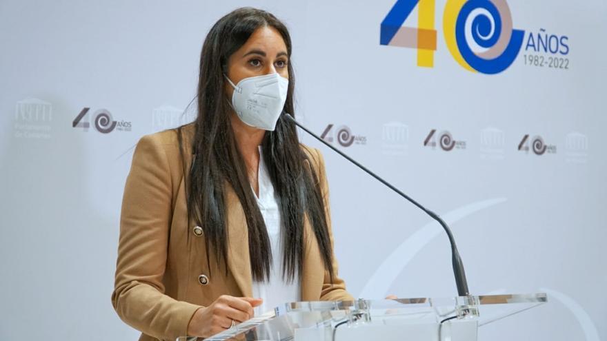 Archivo - La portavoz de Ciudadanos (Cs) en el Parlamento de Canarias, Vidina Espino