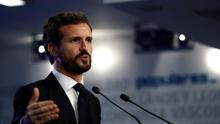 El líder del PP, Pablo Casado, esta semana.