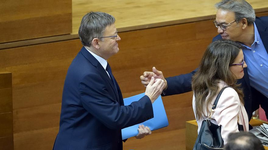 El president de la Generalitat, Ximo Puig y el síndic socialista, Manolo Mata