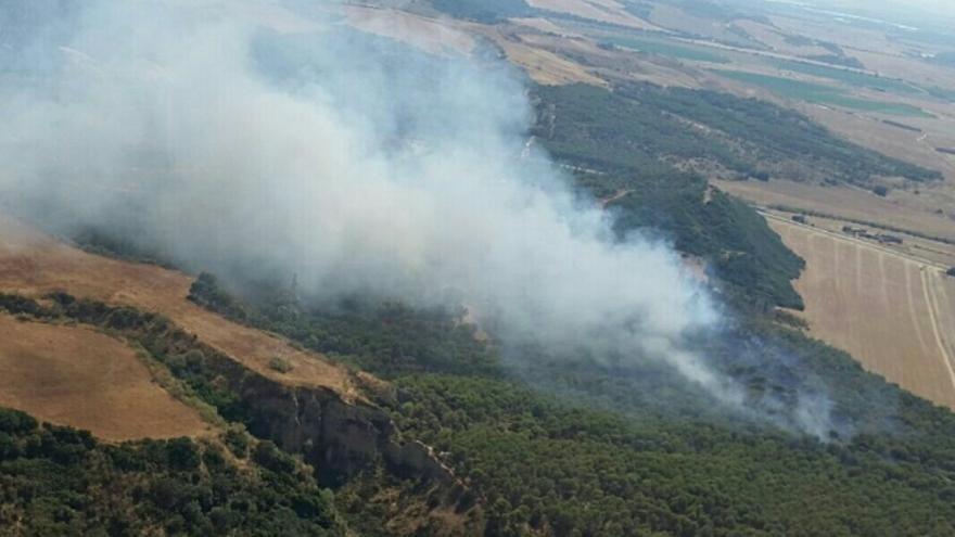 Incendio en el paraje del Cerro Negro de Talavera de la Reina / ATBrif