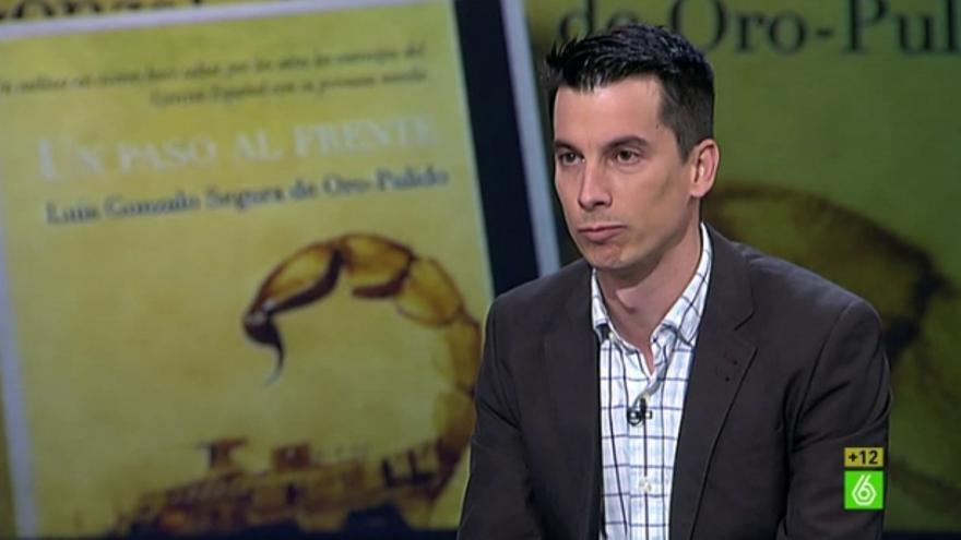 Gonzalo Segura, durante una intervención en 'El Intermedio' de La Sexta.