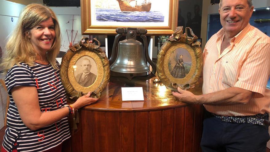Los dos retratos cedidos al Museo Naval.