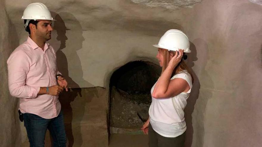 El alcalde de Paterna ha visitado las obras en la cueva