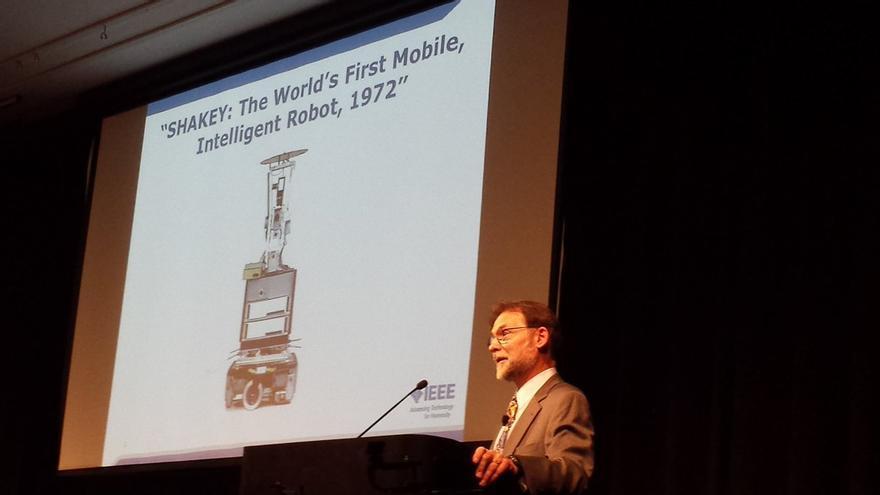 Brian Berg organizó el evento en honor a Shakey celebrado en el Computer History Museum