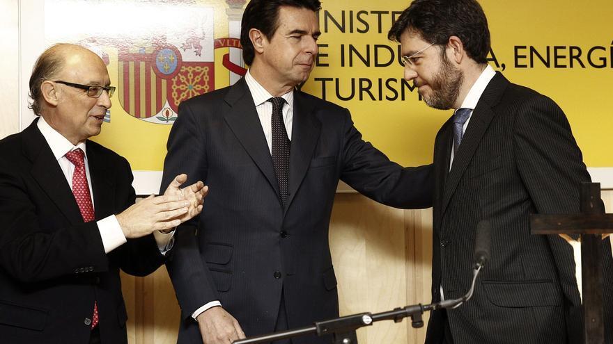 Cristóbal Montoro, José Manuel Soria y Alberto Nadal, en enero de 2013. Foto: EFE