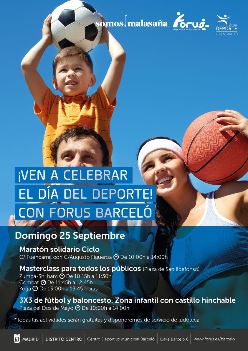 Cartel oficial del Día del Deporte (pincha para ampliar)