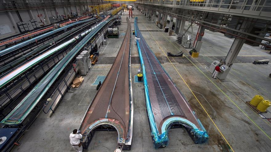 Vista general de la fábrica de palas para aerogeneradores Siemens Gamesa.