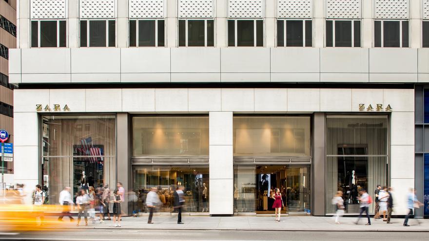 Tienda de Zara en la Quinta Avenida de Nueva York. Foto: Inditex