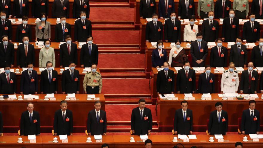 Sesión de clausura de la Asamblea Nacional Popular de China este jueves 28 de mayo en Pekín
