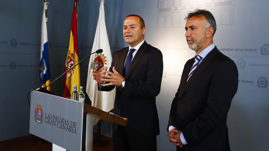 Augusto Hidalgo y Ángel Víctor Torres (AYUNTAMIENTO DE LAS PALMAS DE GRAN CANARIA)