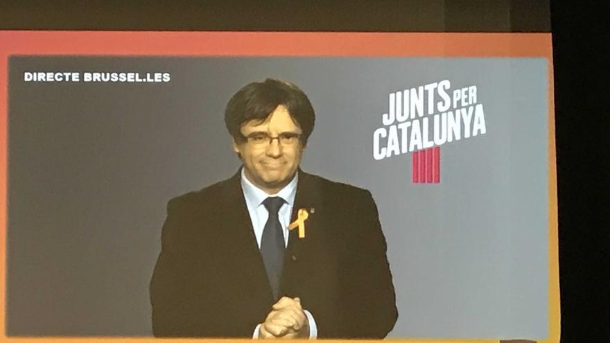 Puigdemont pide no permitir que encarcelen a más dirigentes del proceso soberanista