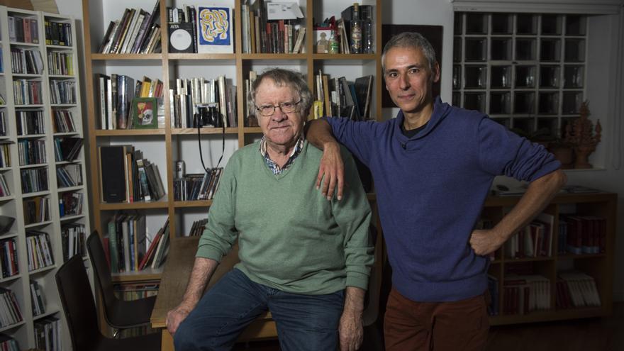 El hispanista Ian Gibson y el dibujante Quique Palomo