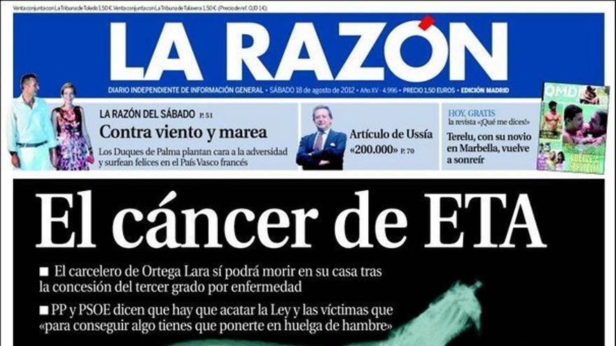 De las portadas del día (18/08/2012) #9