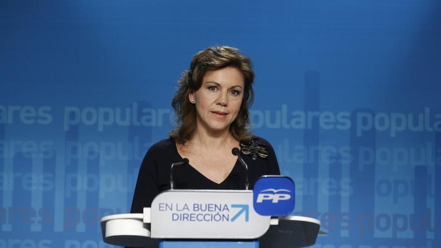 """Cospedal niega """"convulsión"""" en el PP y recuerda que en el PSOE aún no hay candidato y """"tiene un problema con el PSC"""""""