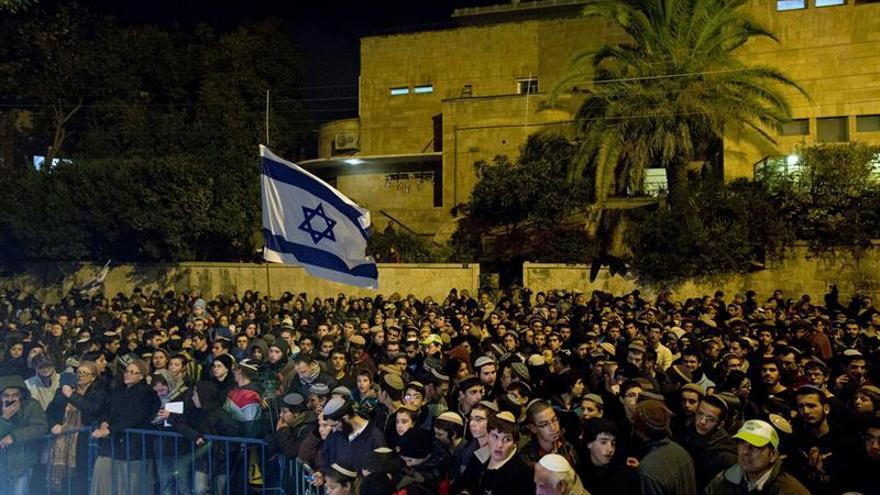Cientos de colonos se manifiestan en Jerusalén por la evacuación de Amoná, en Cisjordarnia