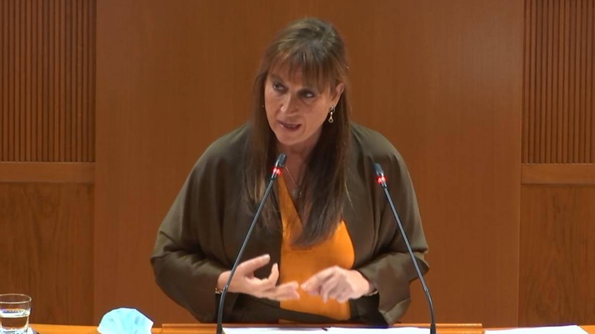 Sira Repollés este miércoles en sede parlamentaria.