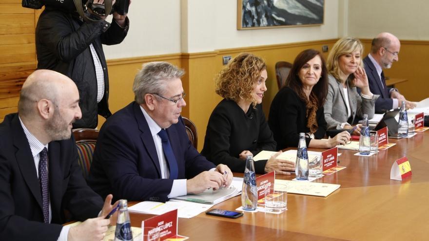Comisión Bilateral Aragón-Estado con la presencia de la ministra de Política Territorial y Funcion Pública, Meritxell Batet