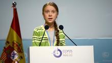 Greta Thunberg durante la COP25