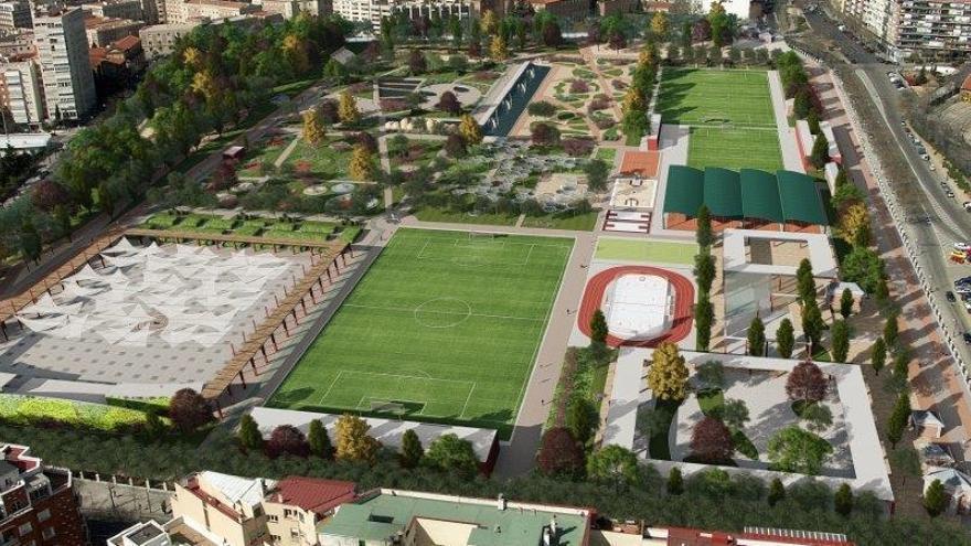 Recreación del futuro parque del Tercer Depósito del Canal de Isabel II | COMUNIDAD DE MADRID