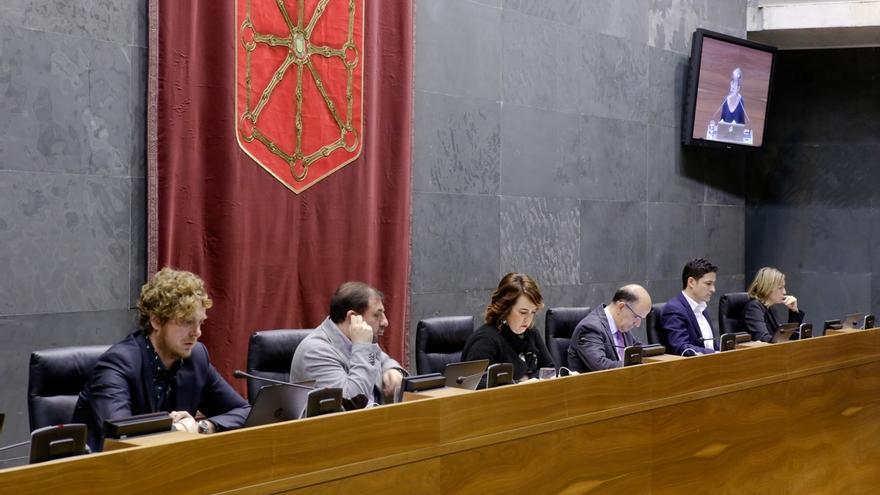 Sesión del Parlamento de Navarra.