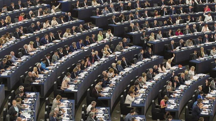 Imagen de archivo de un pleno en la Eurocámara.