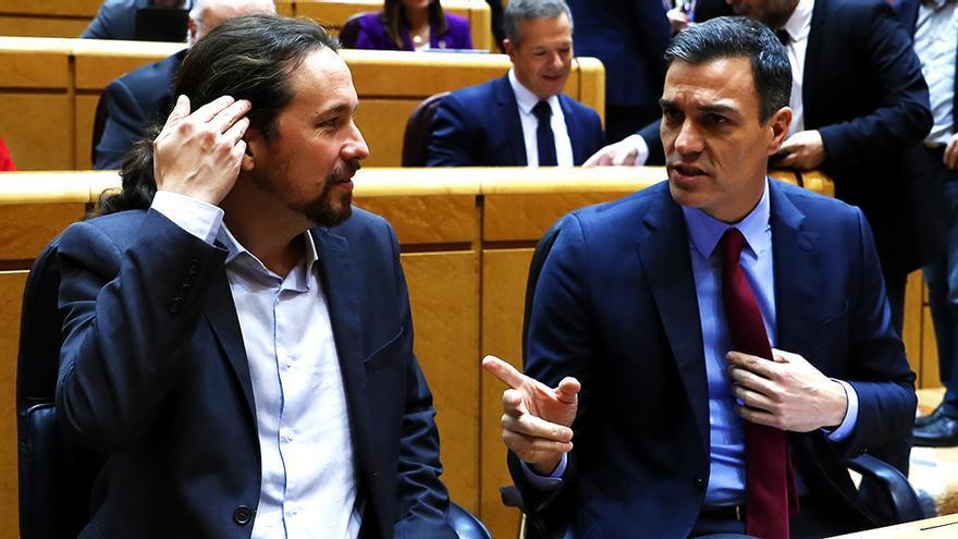 Pablo Iglesias y Pedro Sánchez en una imagen de febrero