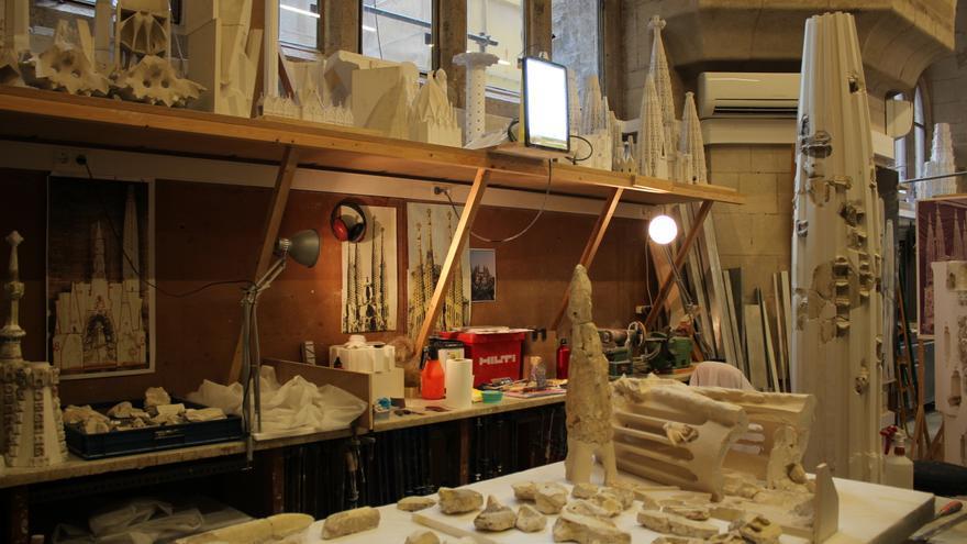 El taller de modelistas, en el que se crean nuevas maquetas y se restauran las antiguas