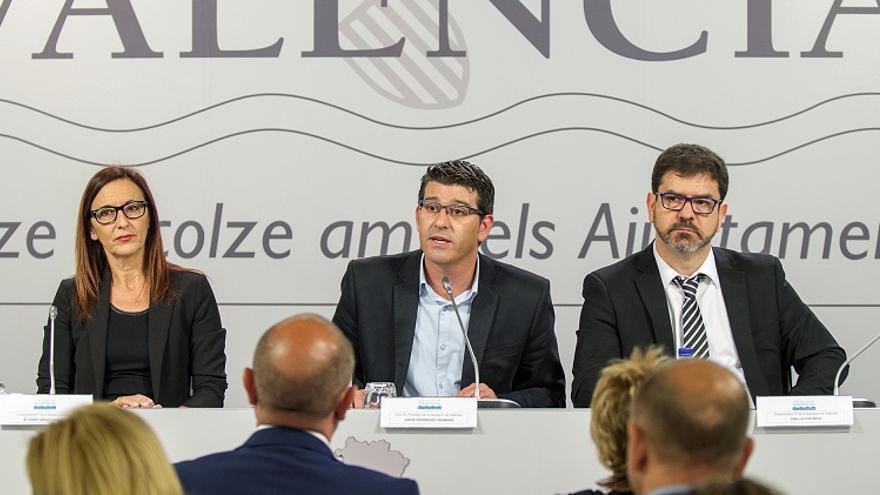Jorge Rodríguez ha presentado el nuevo PPOS junto a Maria Josep Amigó i Emili Altur