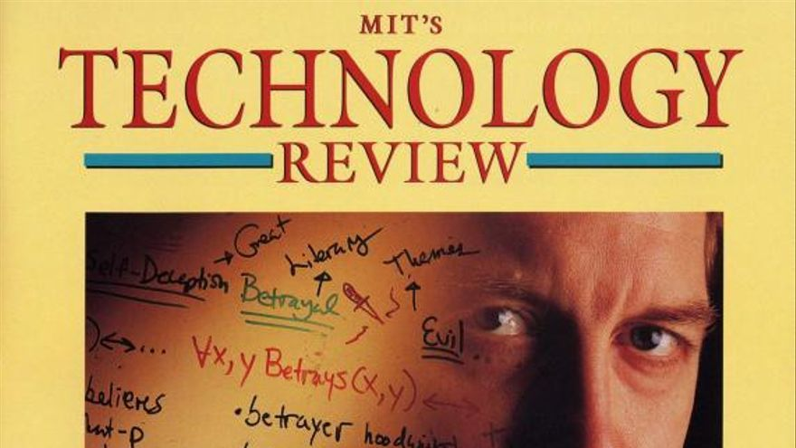 Portada de la revista MIT Technology de marzo y abril de 1998