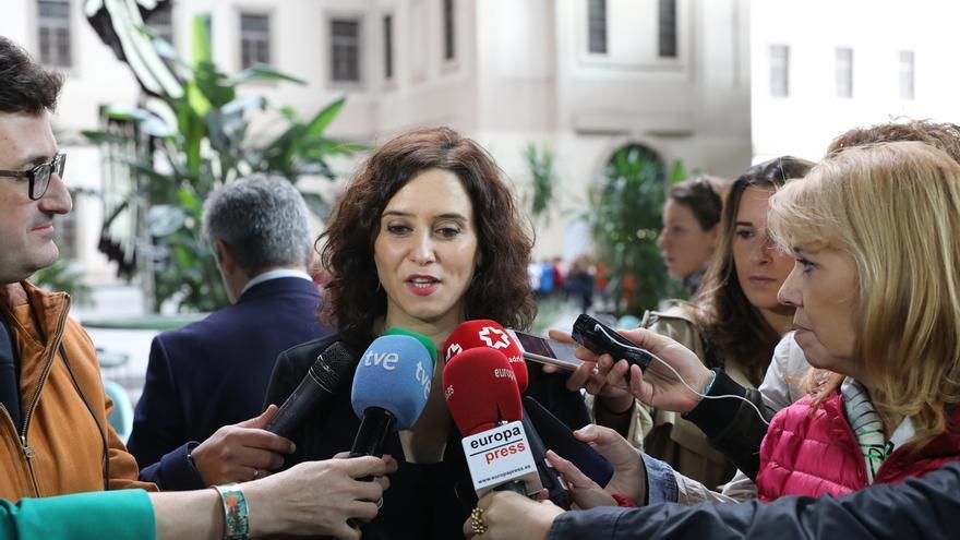 """Ayuso: """"¿Alguien tiene alguna duda en España de lo que es el movimiento CDR violento y terrorista? Hay que ponerle fin"""""""