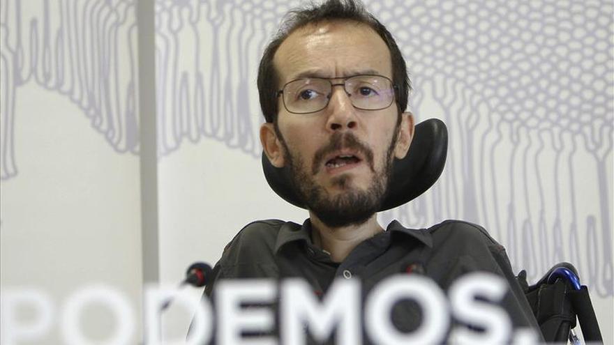 Pablño Echenique, secretario regional de Podemos en Aragón.