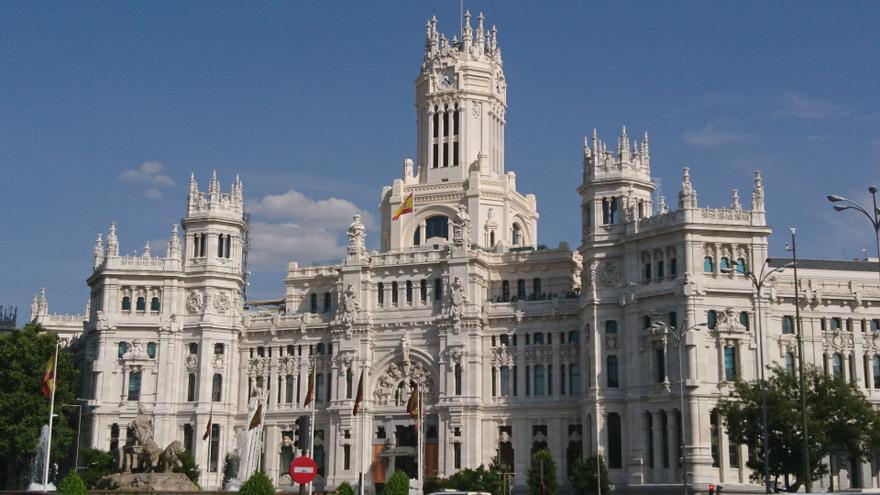 Fachada del Palacio de Cibeles en Madrid